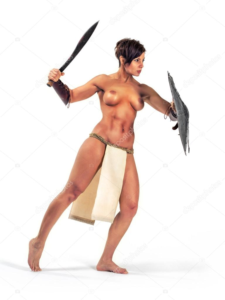 nude girl fight in public