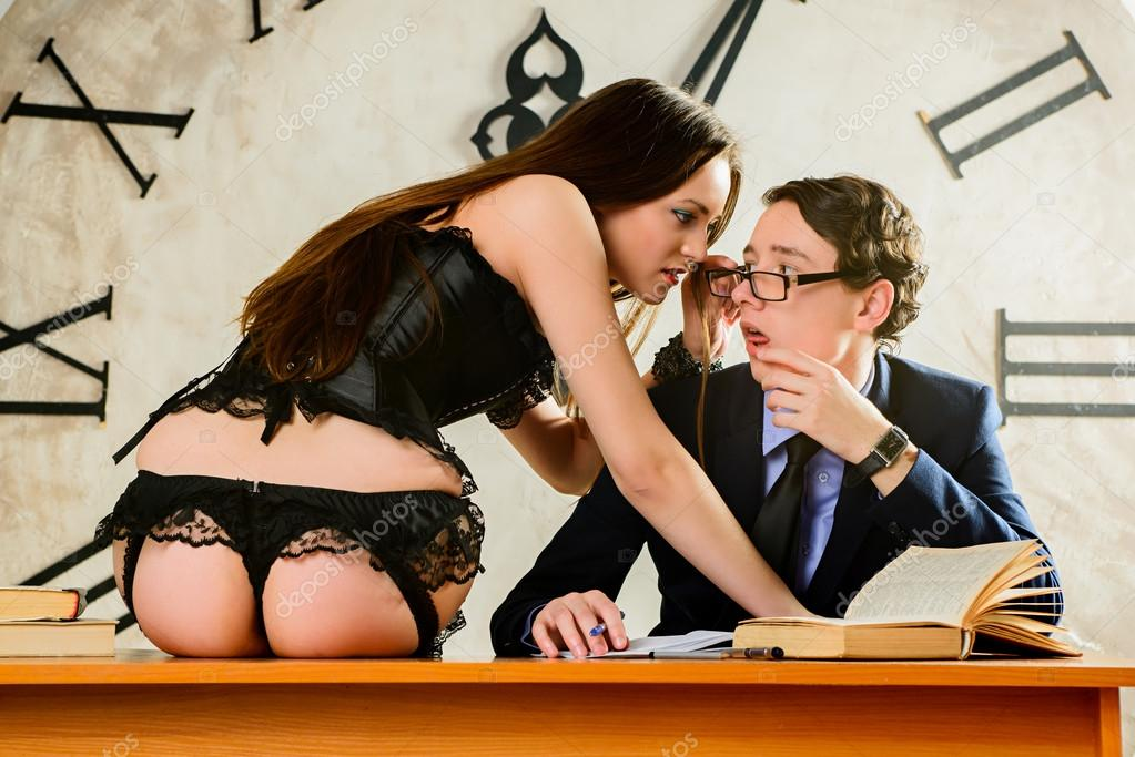 depraved brunette teacher servicing three big dicked students  229945