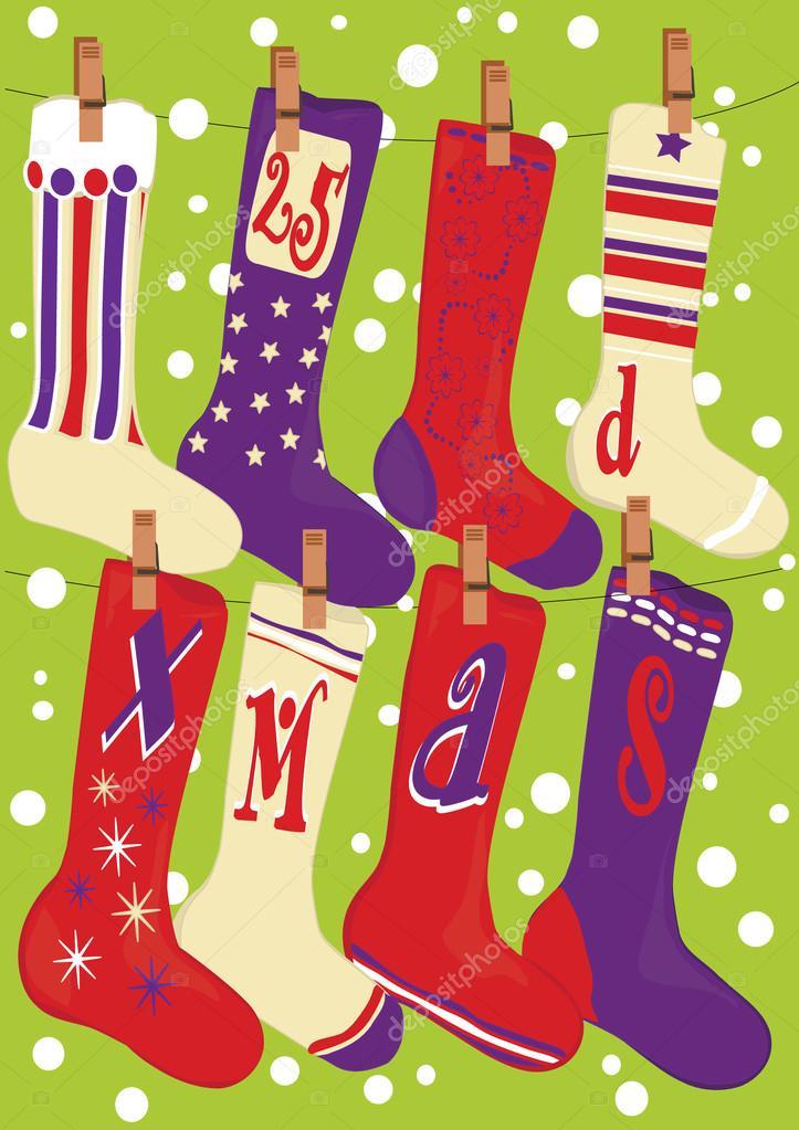 Днем, открытка с носками